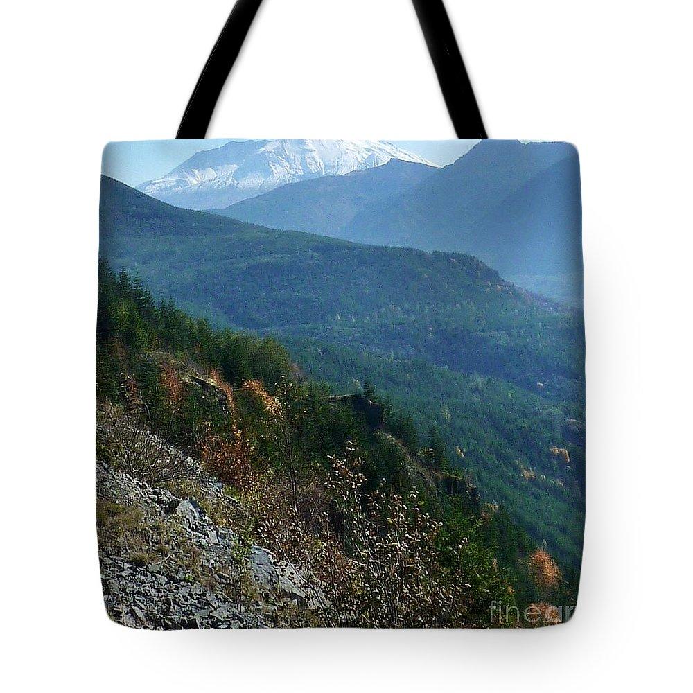 Mount Saint Helen's Majesty Tote Bag featuring the photograph Mount Saint Helens Majesty by Susan Garren