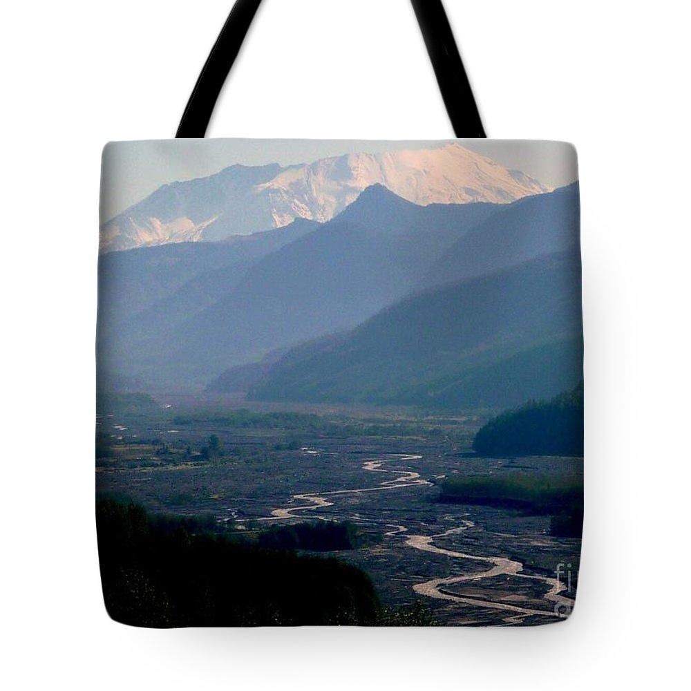 Mount Saint Helens Tote Bag featuring the photograph Mount Saint Helens Valley by Susan Garren