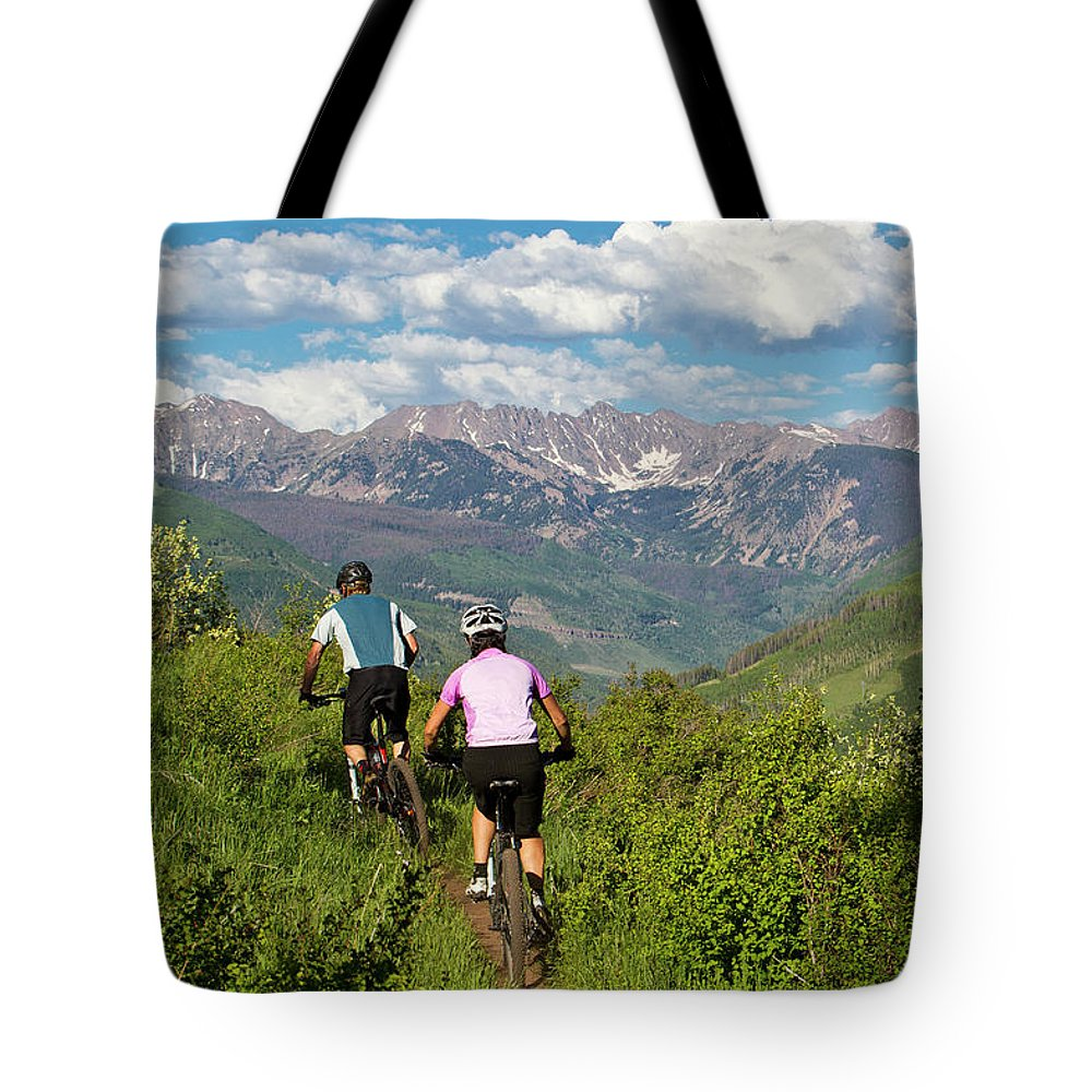 30-34 Years Tote Bag featuring the photograph Mountain Biking by Jack Affleck