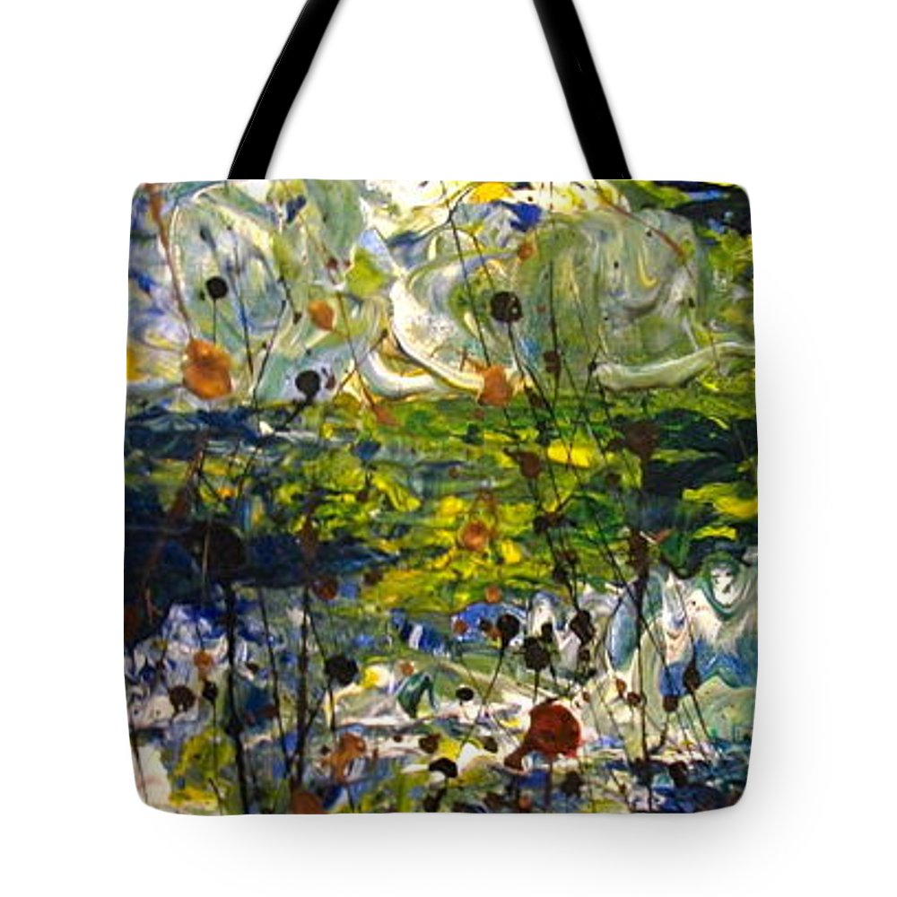Water Tote Bag featuring the painting Mountain Creek by Jacqueline Athmann
