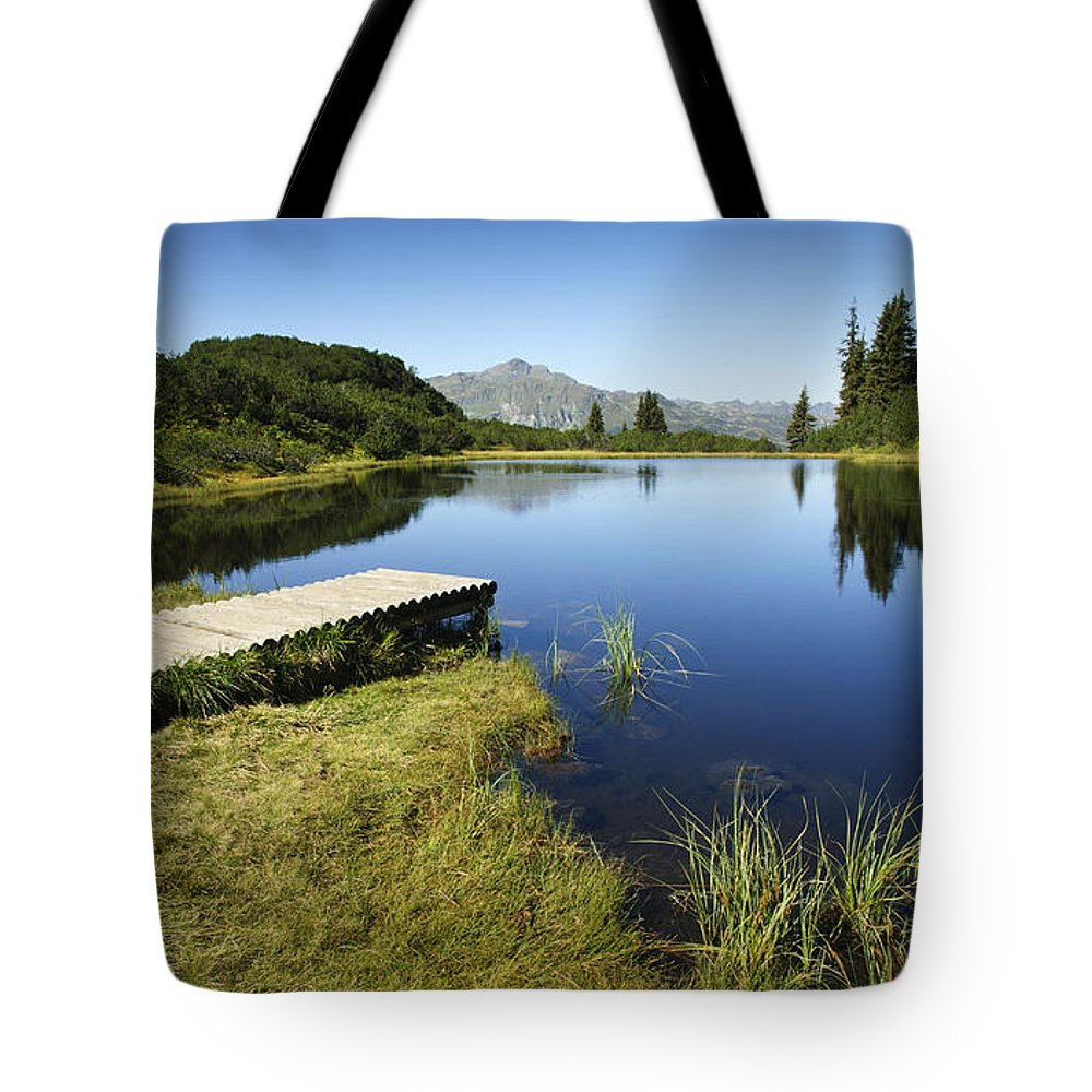 Mountain Tote Bag featuring the photograph Mountain Lake by Chevy Fleet