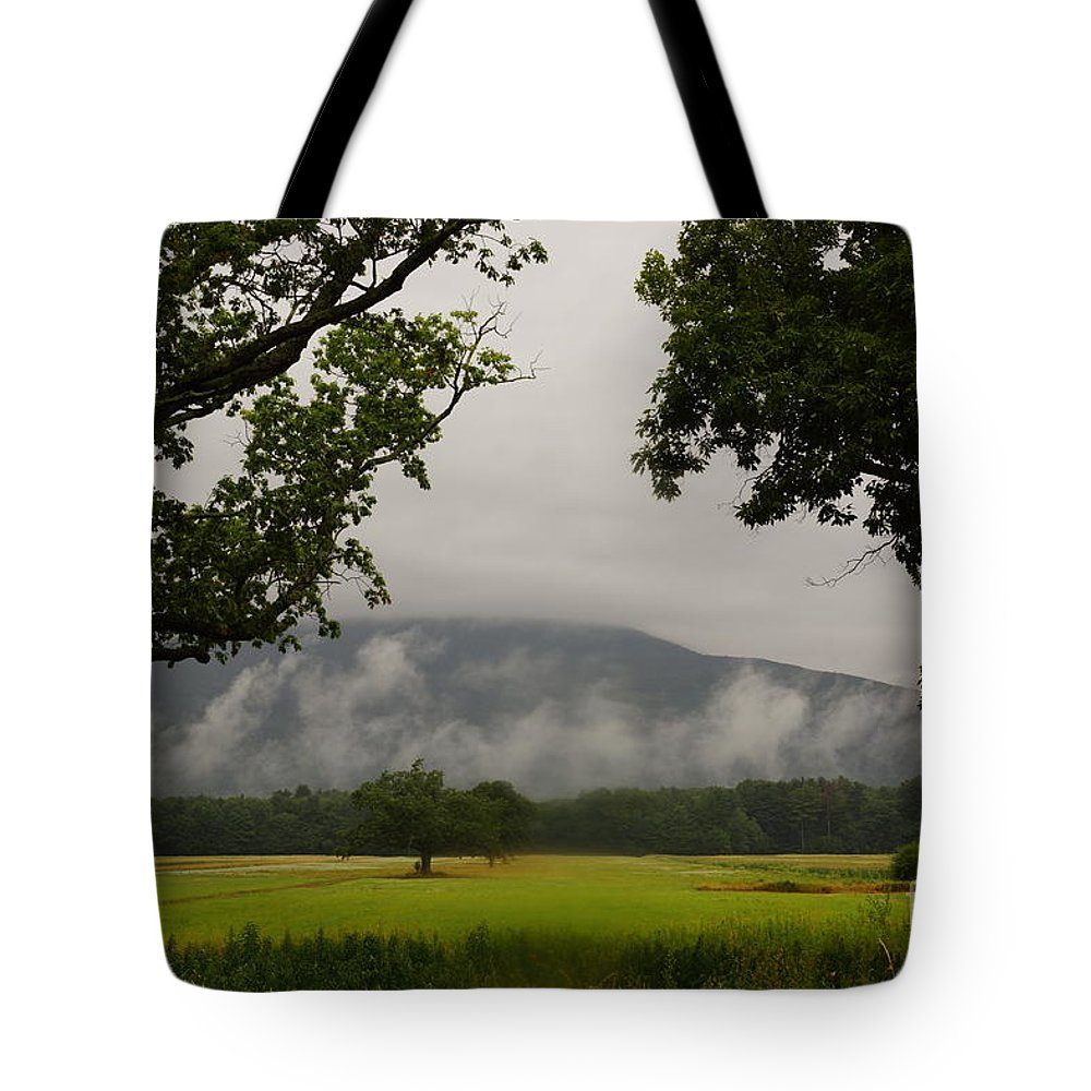 Early Morning Mountain Fog Tote Bag featuring the photograph Mountain Mist by Jeffery L Bowers
