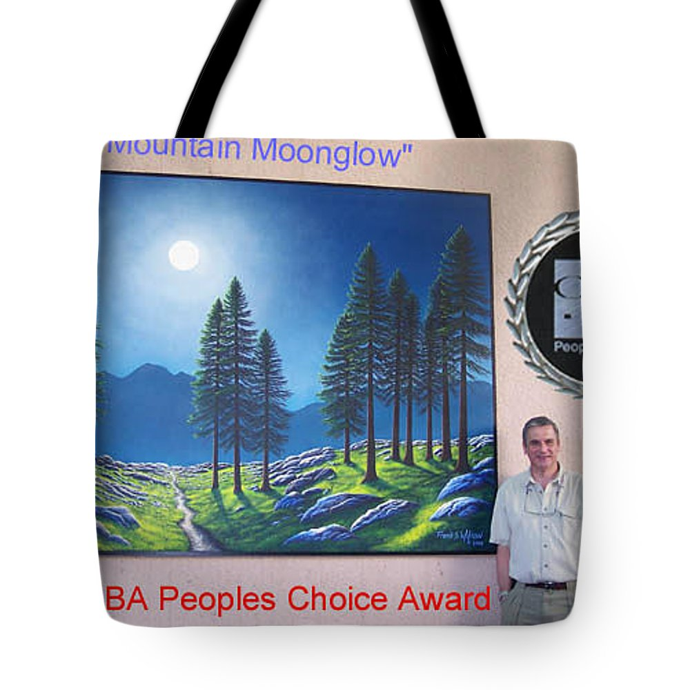 Murals Tote Bag featuring the painting Mountain Moonglow Mural by Frank Wilson
