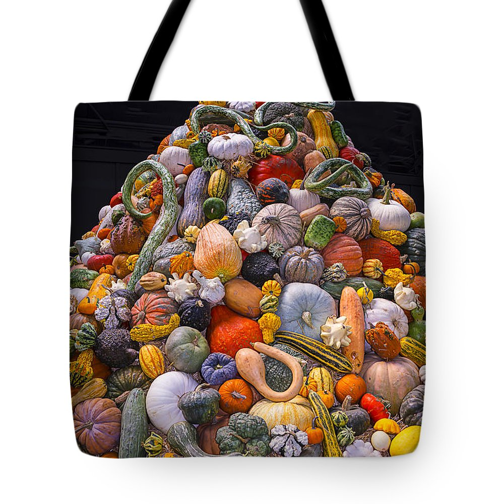 Mountain Tote Bag featuring the photograph Mountain Of Gourds And Pumpkins by Garry Gay