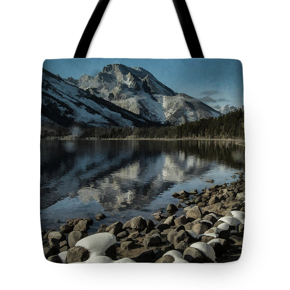Lake Tote Bag featuring the photograph Mountain Reflection by Erika Fawcett