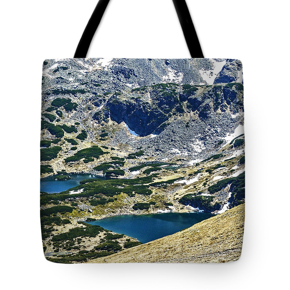 Mountains Lakes Tote Bag featuring the photograph Mountains Lakes by Zbigniew Krol