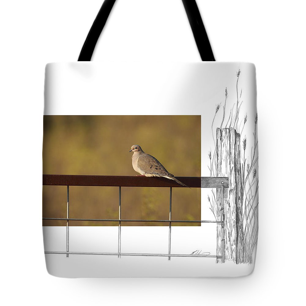Mourning Dove Tote Bag featuring the photograph Mourning Dove by Andrew McInnes
