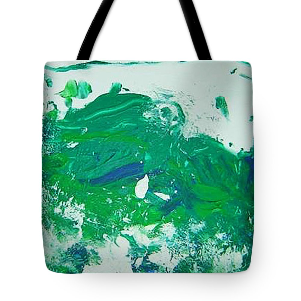 Impetus Tote Bag featuring the mixed media Moving Forward IIi by Luz Elena Aponte