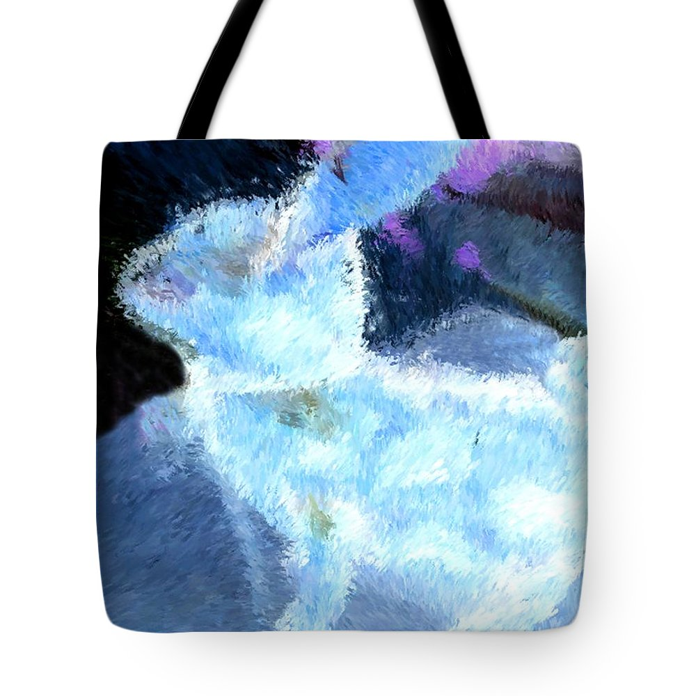 Portrait Tote Bag featuring the photograph Mr. Blue Bunny by Morgan Carter