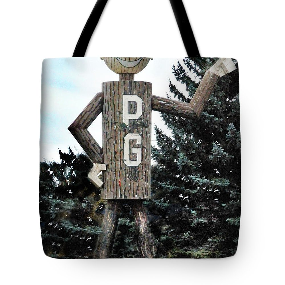 Mascot Tote Bag featuring the photograph Mr. Pg by Vivian Martin