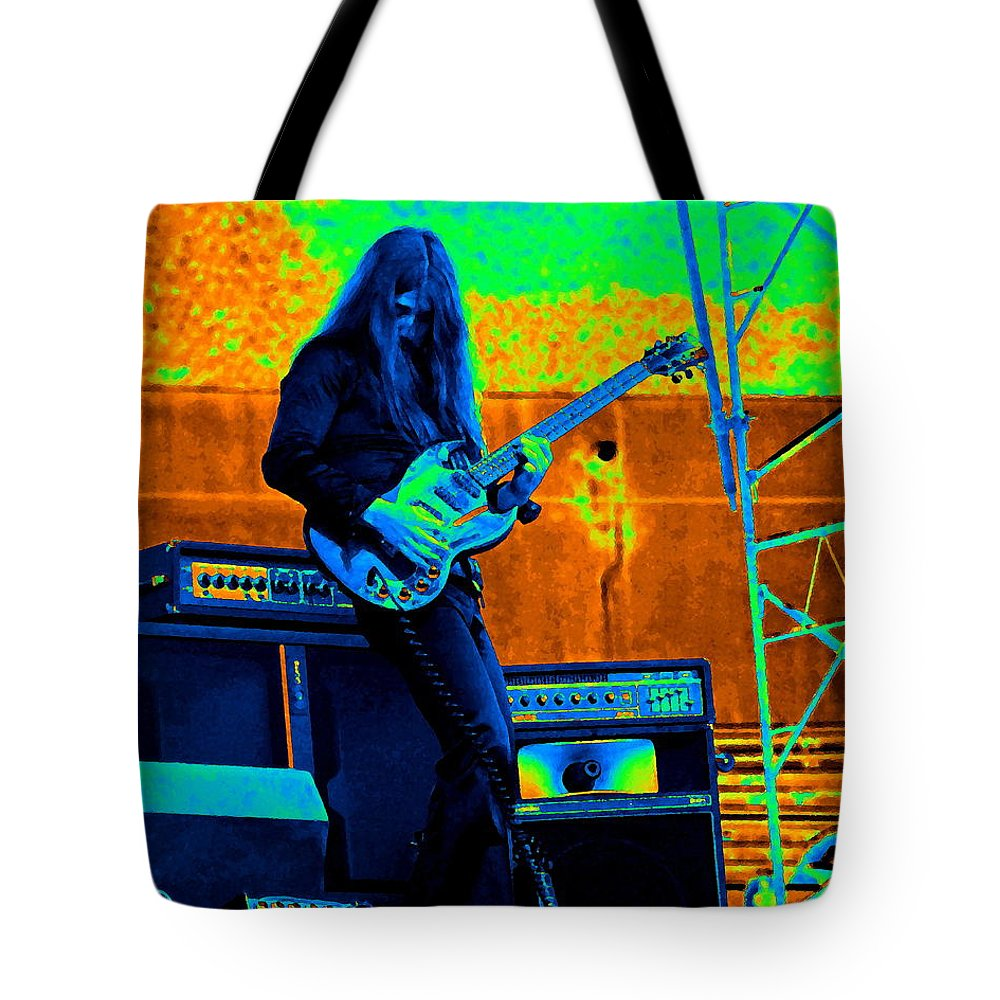 Frank Marino Tote Bag featuring the photograph Mrdog #21 In Cosmicolors by Ben Upham