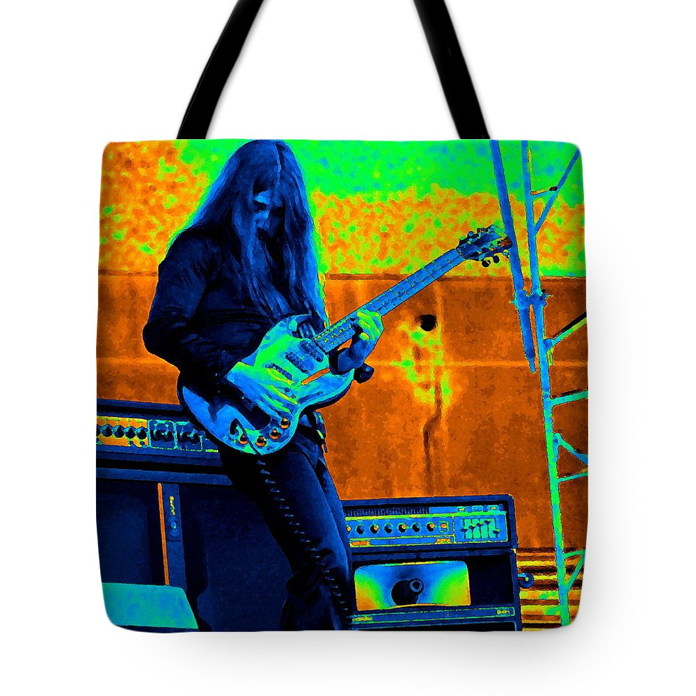 Frank Marino Tote Bag featuring the photograph Mrdog #21 In Cosmicolors Crop 3 by Ben Upham