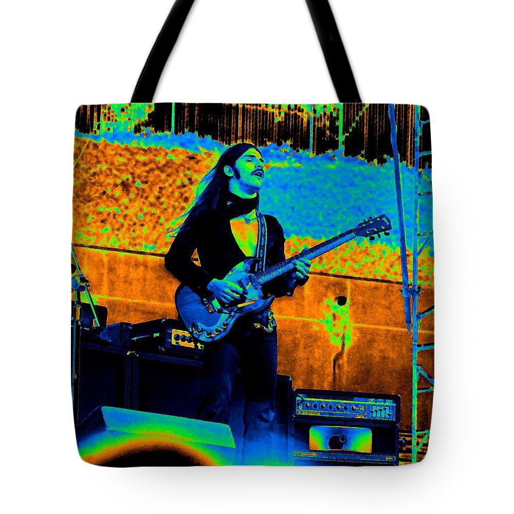 Frank Marino Tote Bag featuring the photograph Mrdog #24 In Cosmicolors by Ben Upham