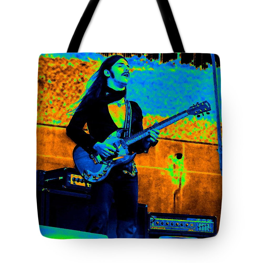 Frank Marino Tote Bag featuring the photograph Mrdog #24 In Cosmicolors Crop 2 by Ben Upham