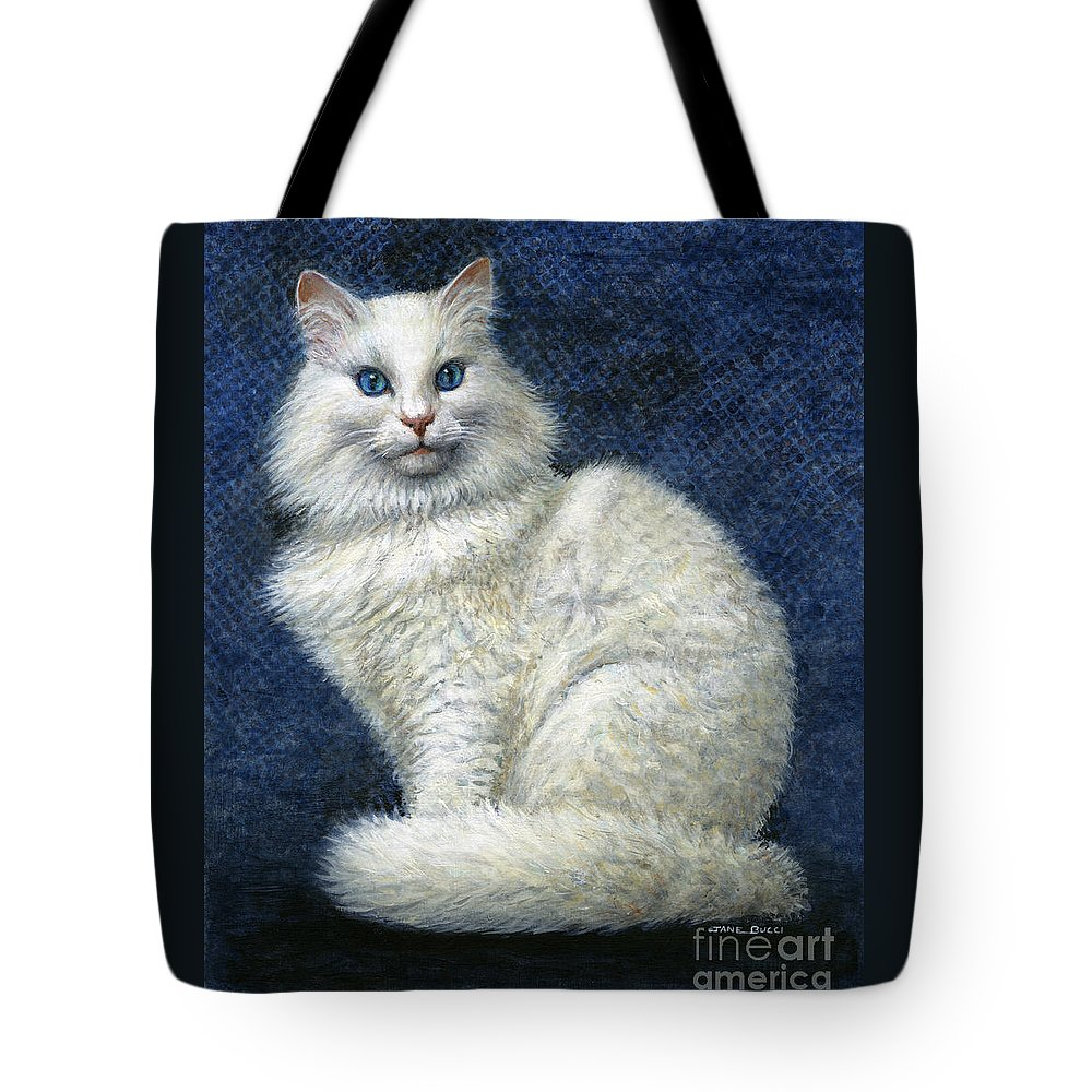 Cat Tote Bag featuring the painting Mrs. Moon by Jane Bucci