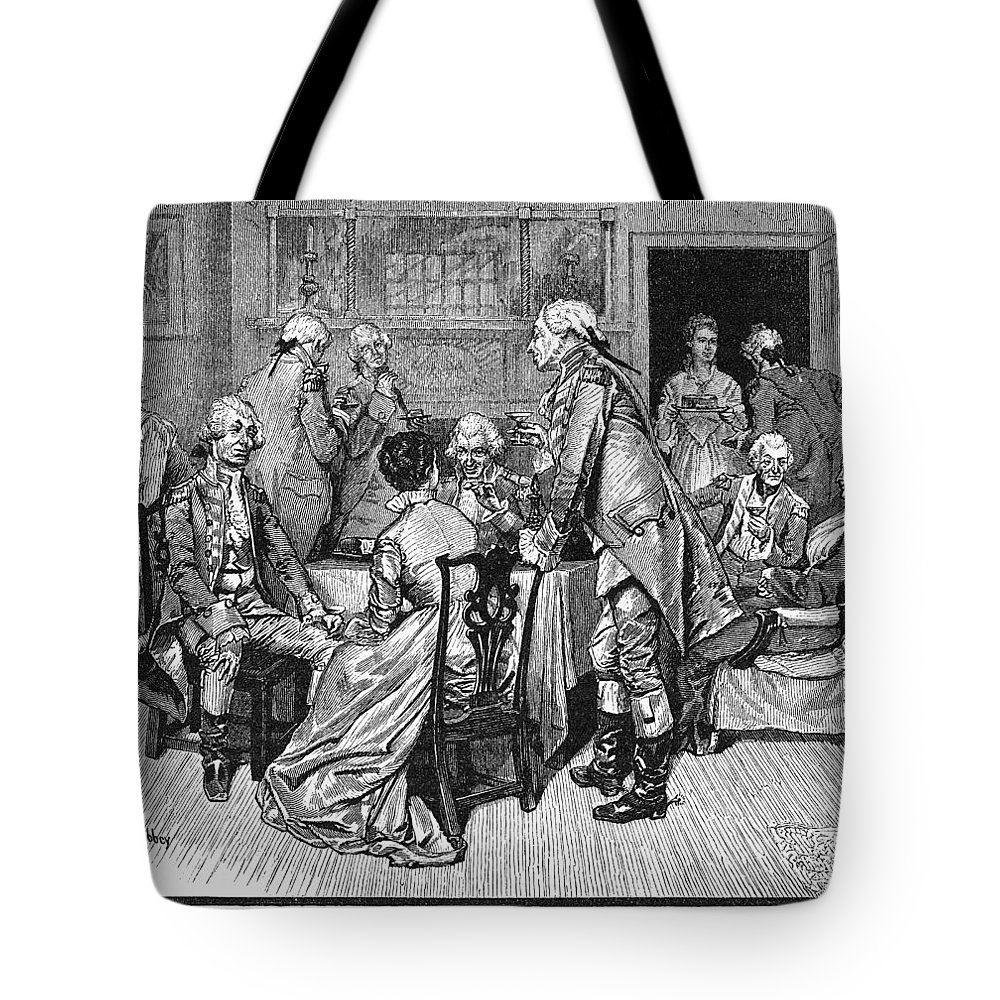 1776 Tote Bag featuring the photograph Mrs. Murray And Lord Howe by Granger