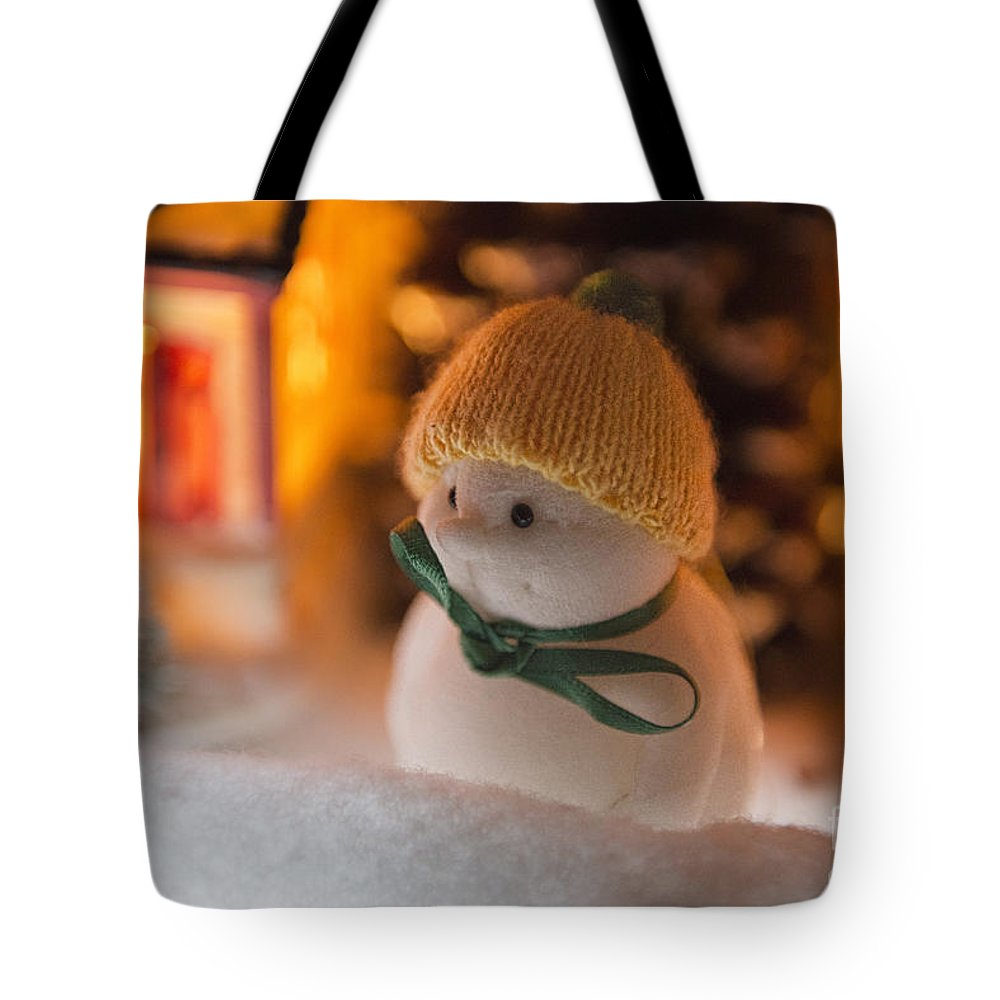 Snowman Tote Bag featuring the photograph Mrs Snowden by David Arment