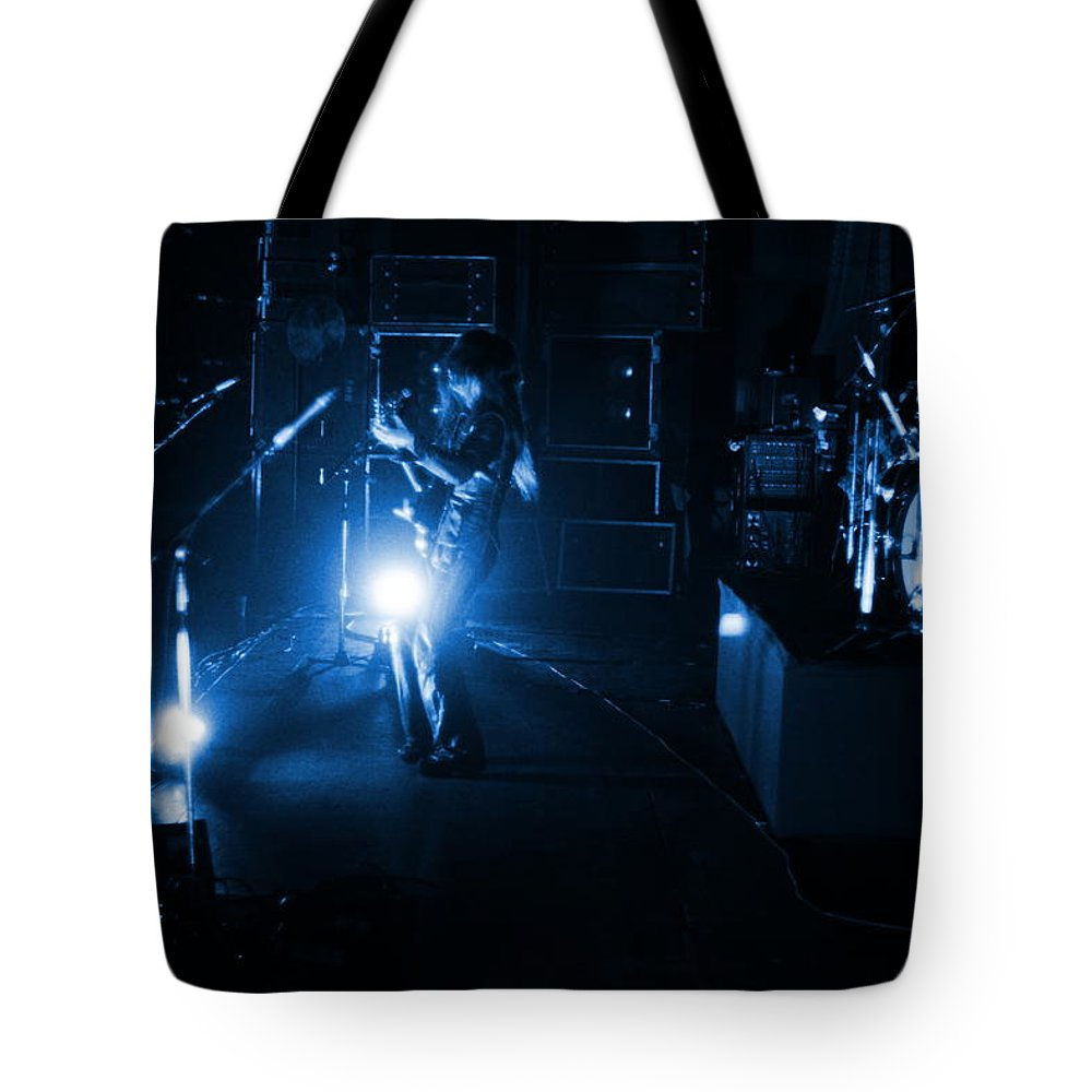 Mahogany Rush Tote Bag featuring the photograph Mrush #33 In Blue by Ben Upham