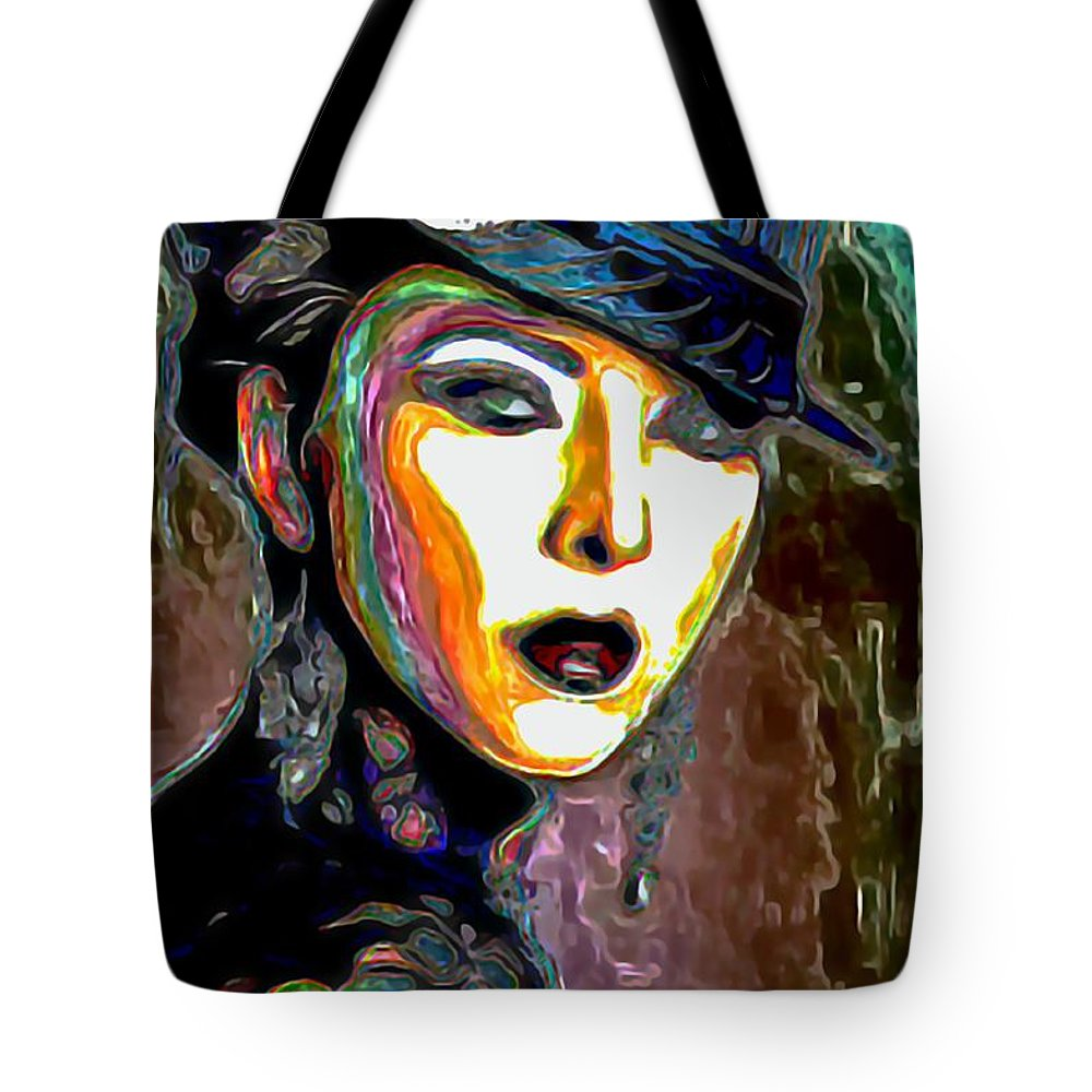 Ms Boss Lady Tote Bag featuring the painting Ms Boss Lady by Fli Art
