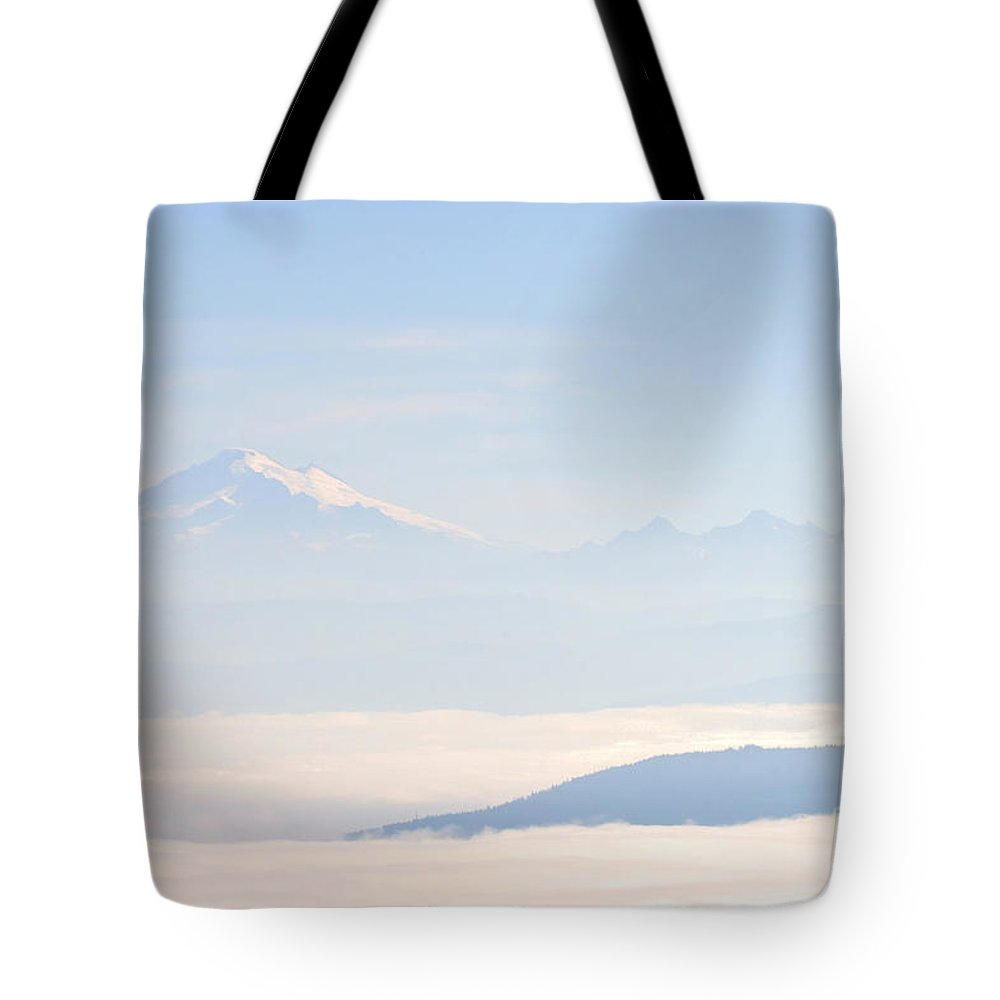 Mountain Tote Bag featuring the photograph Mt. Baker From San Juan Islands by Tap On Photo