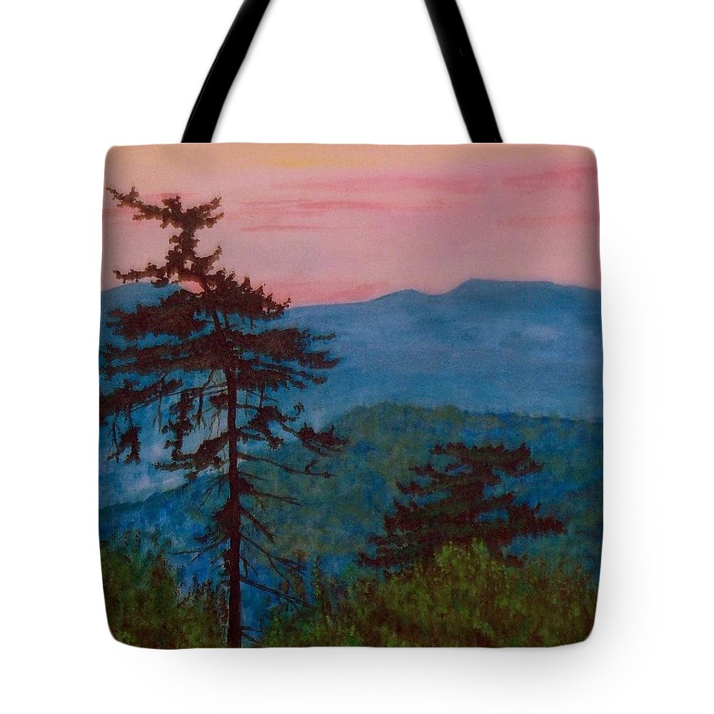 Landscape Tote Bag featuring the painting Mt. Greylock by William Tremble