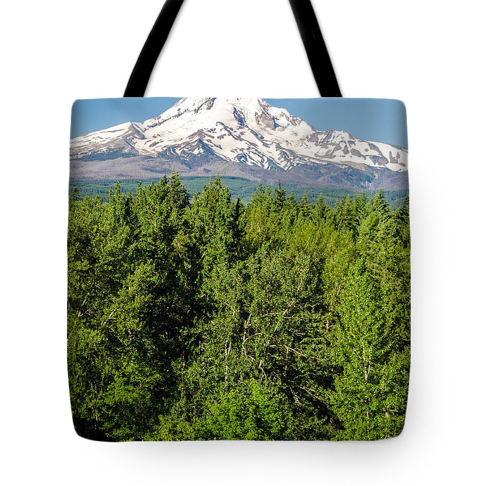 Mountain Tote Bag featuring the photograph Mt. Hood Vertical by Jess Kraft