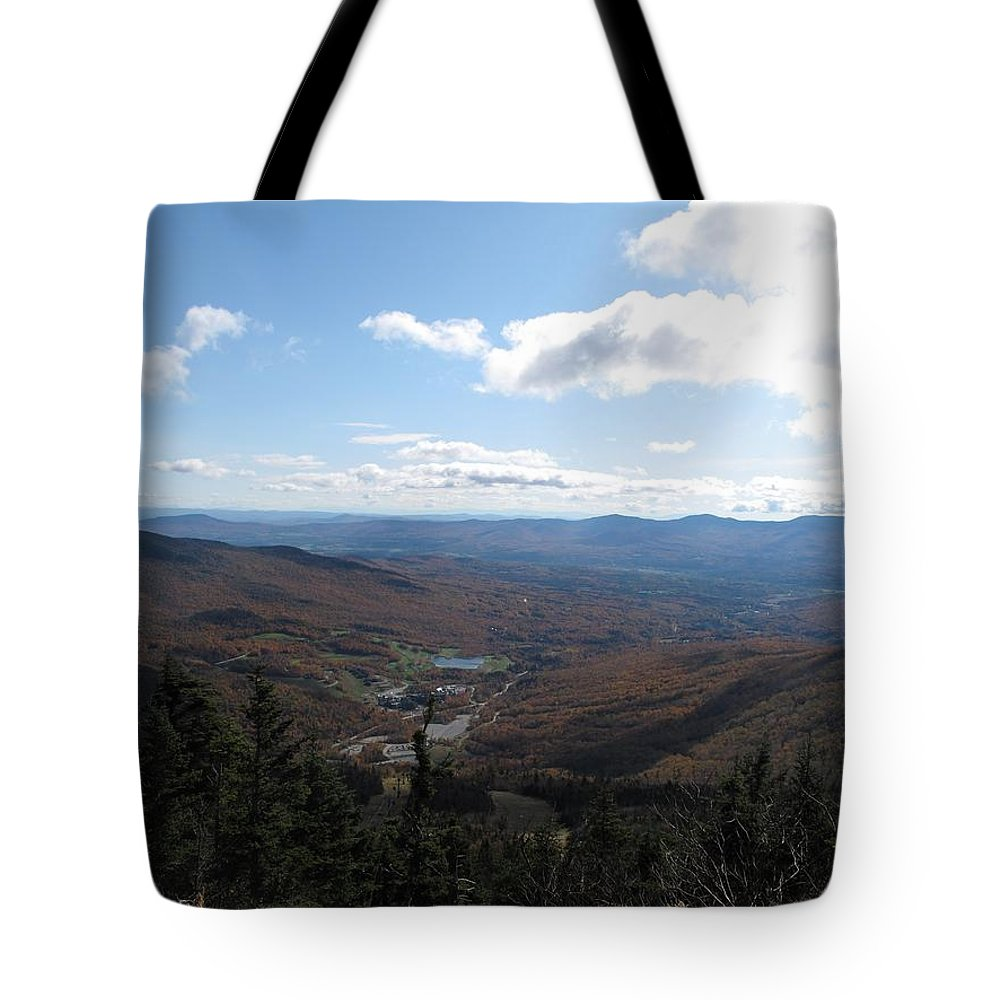 Mountain Tote Bag featuring the photograph Mt Mansfield Looking East by Barbara McDevitt