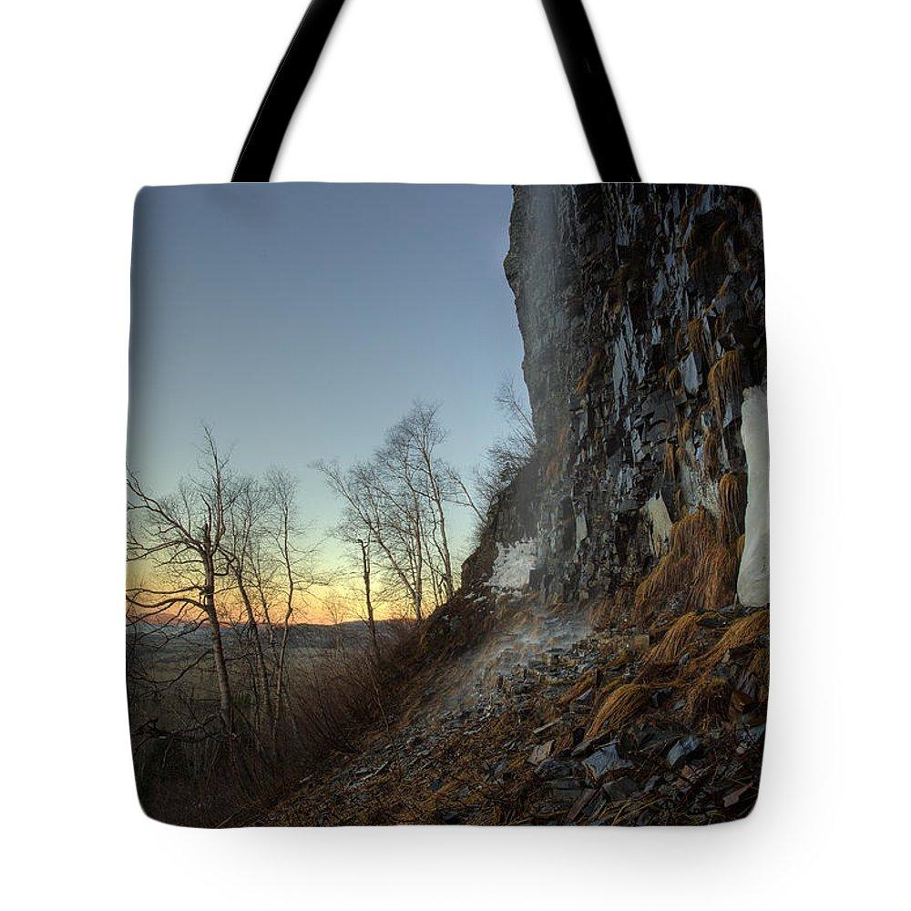 Aboriginal Tote Bag featuring the photograph Mt Mckay Spring Waterfall by Jakub Sisak