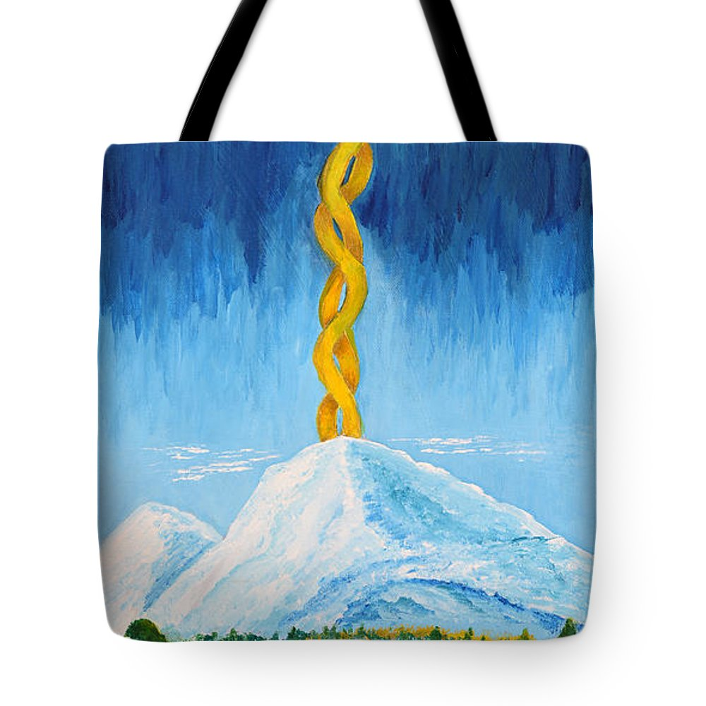 Art-by-cassie Sears Tote Bag featuring the painting Mt. Shasta by Cassie Sears