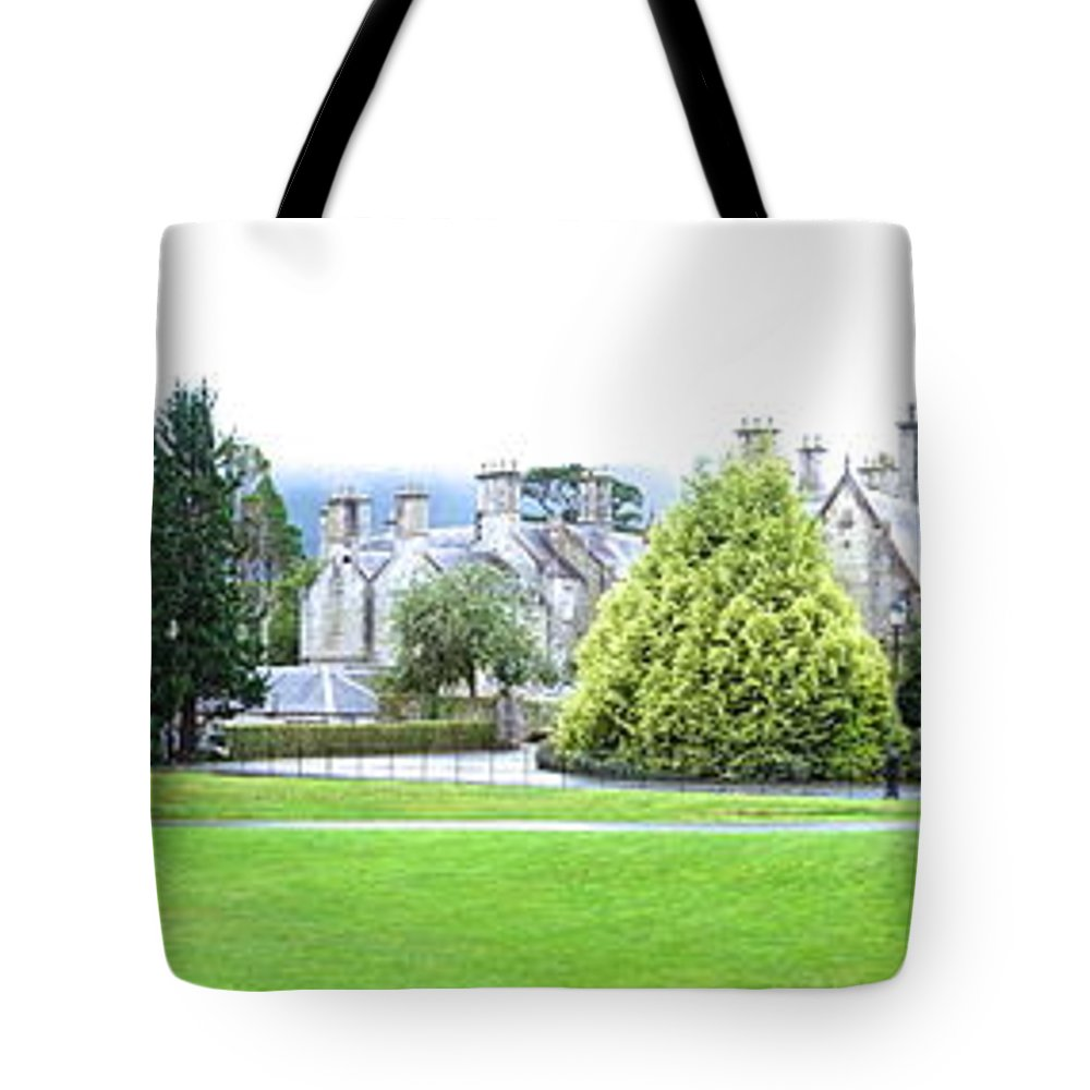 Muckross Castle Tote Bag featuring the photograph Muckross Castle by Charlie Brock