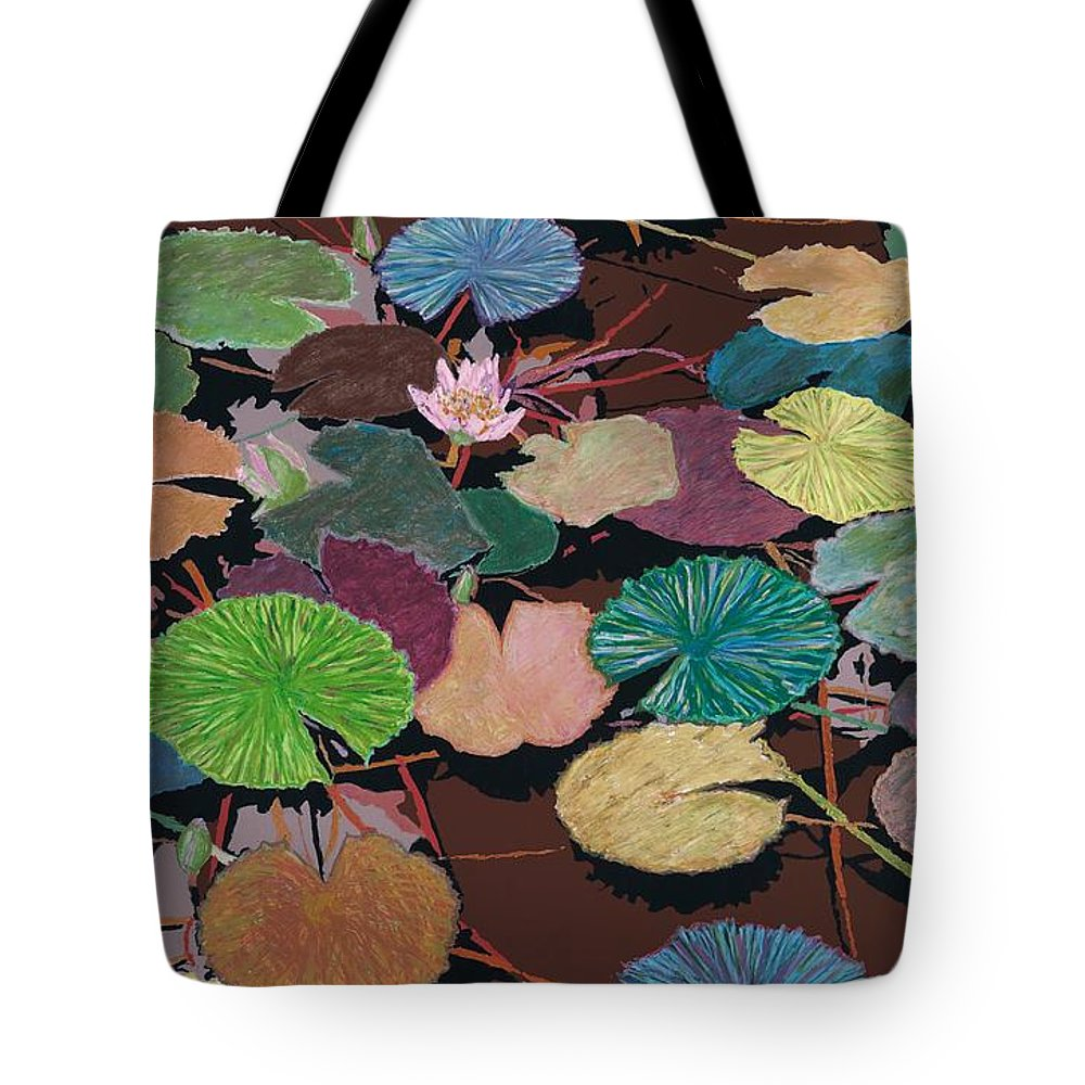 Landscape Tote Bag featuring the painting Muddy Waters by Allan P Friedlander