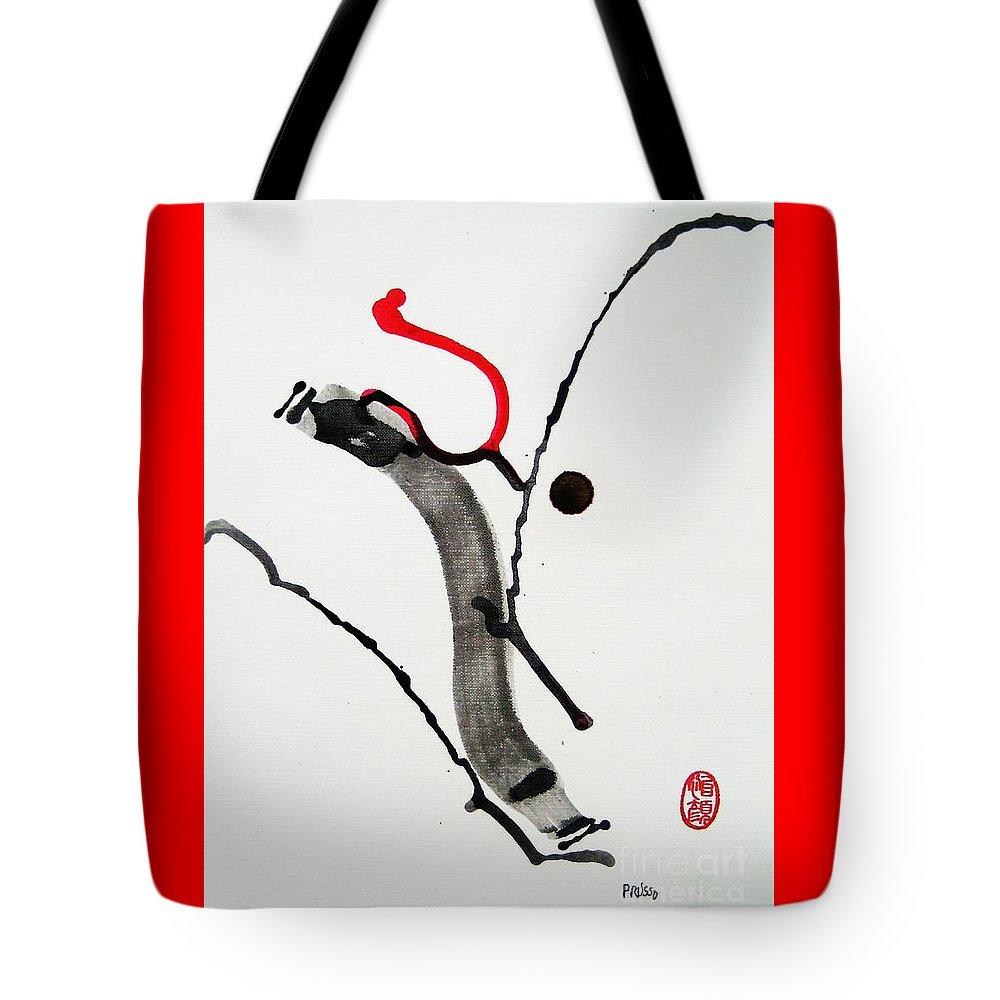 Abstract Tote Bag featuring the painting Muga No Genri Ni by Roberto Prusso