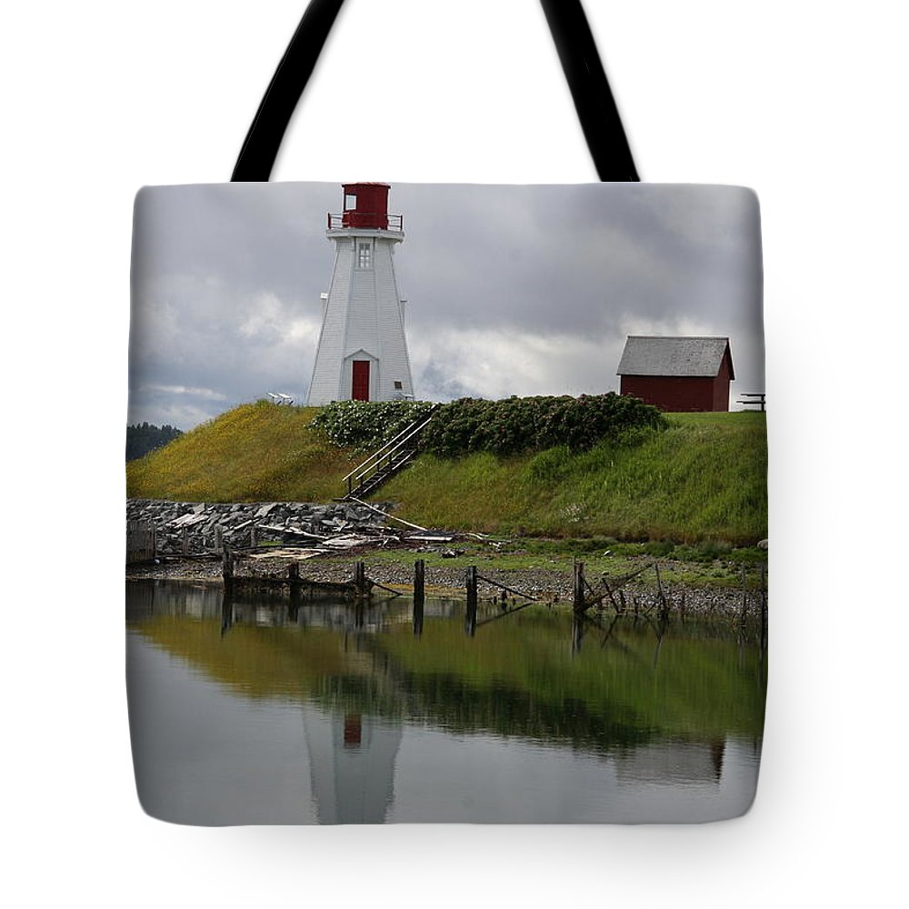 Mulholland Point Tote Bag featuring the photograph Mulholland Point Lighthouse - New Brunswick by Christiane Schulze Art And Photography