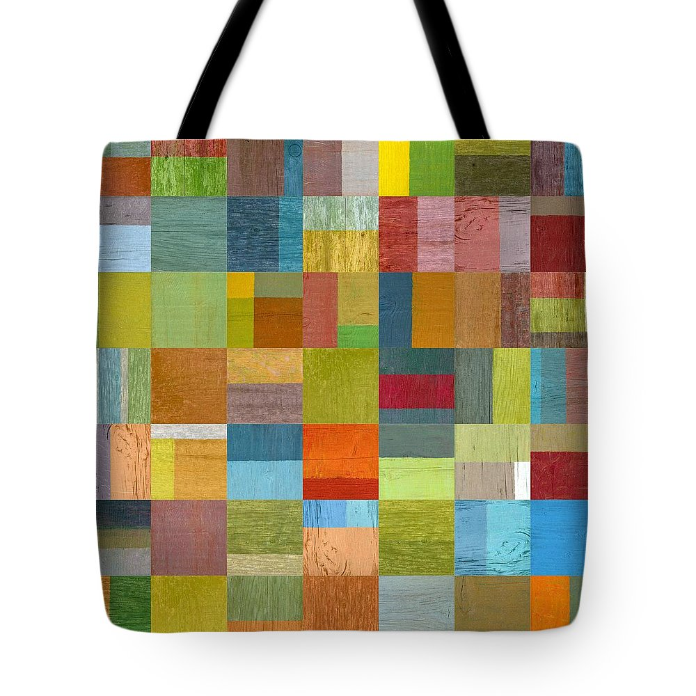Abstract Tote Bag featuring the digital art Multiple Exposures L by Michelle Calkins