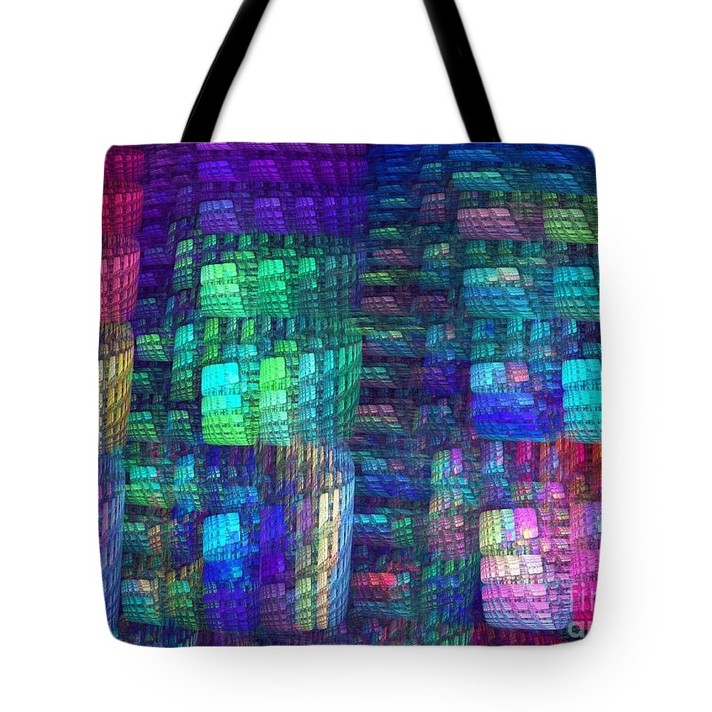 Apophysis Tote Bag featuring the digital art Multiplicity by Kim Sy Ok