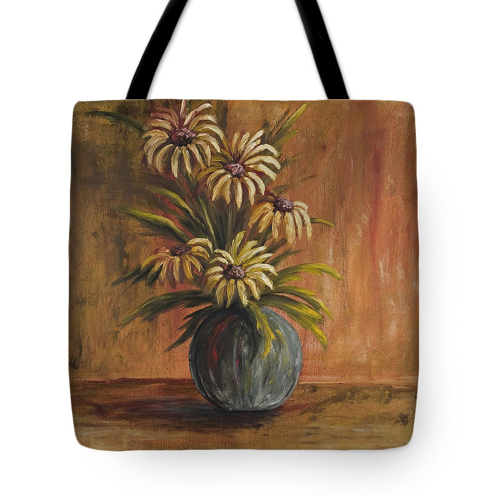 Mums Tote Bag featuring the painting Mums For Mom by Darice Machel McGuire