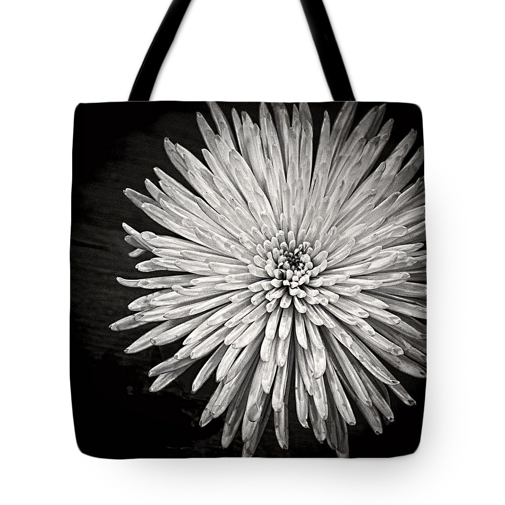 Flower Tote Bag featuring the photograph Mum's The Word by Kristi Swift