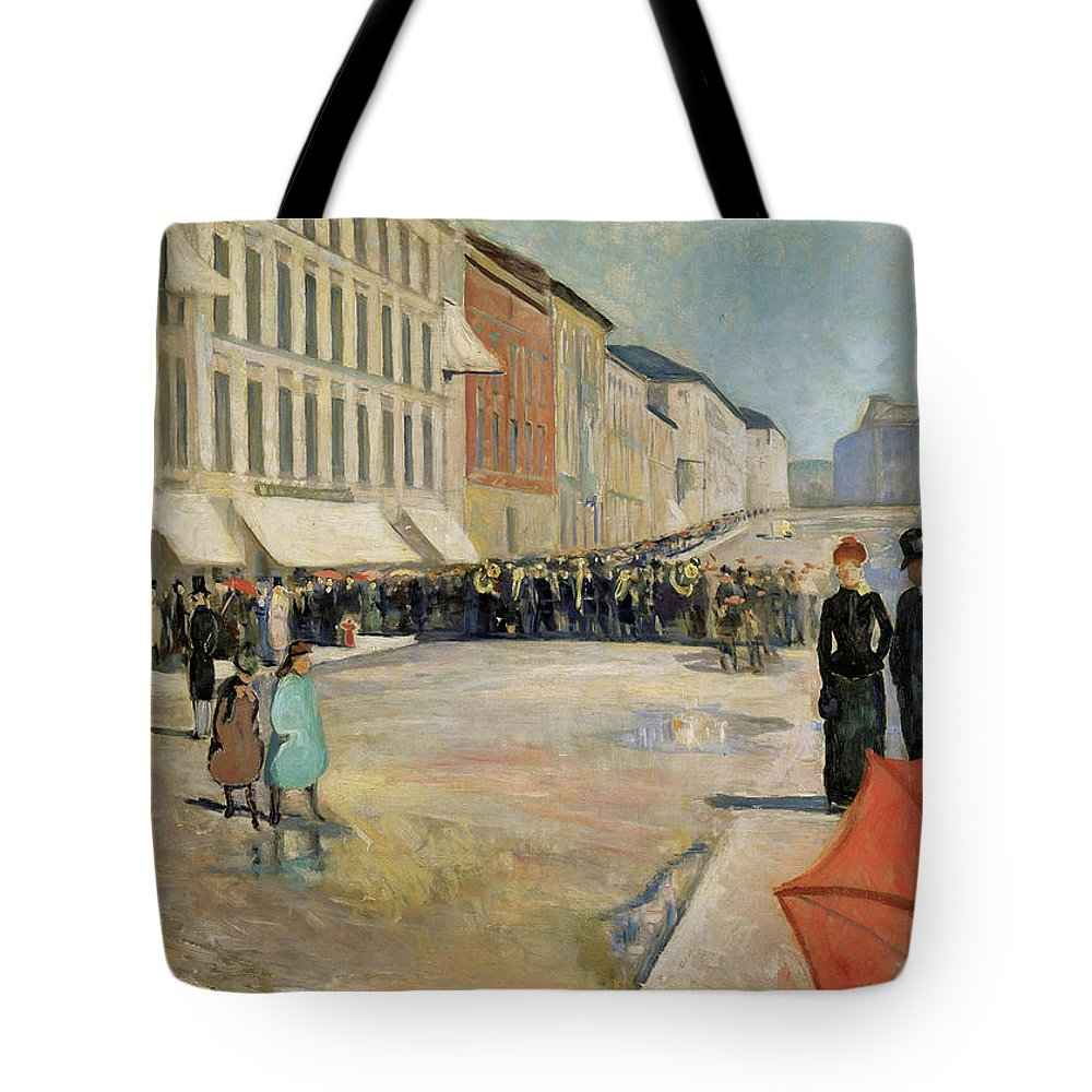 1889 Tote Bag featuring the painting Munch Musik, 1889 by Granger