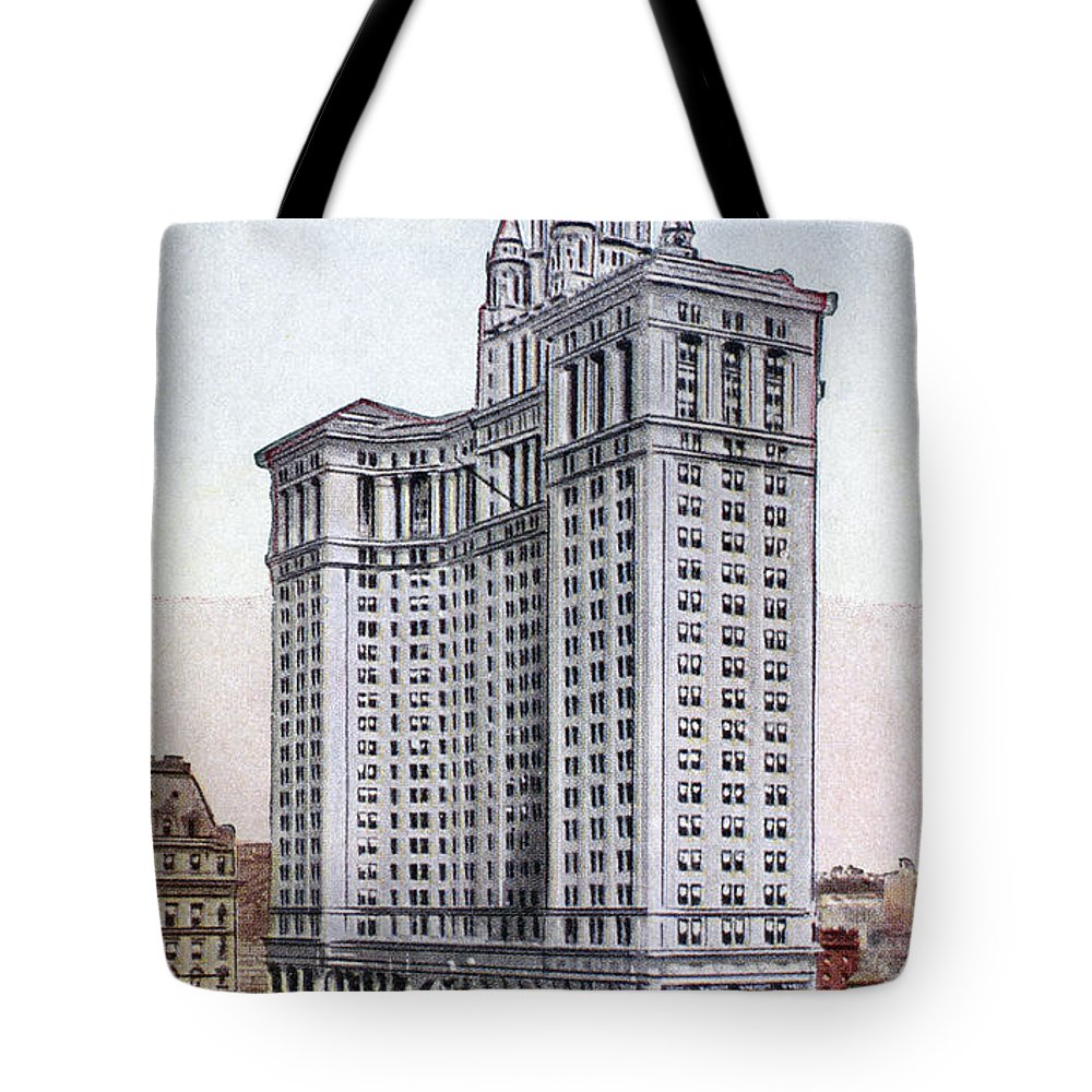 1930 Tote Bag featuring the photograph Municipal Building by Granger