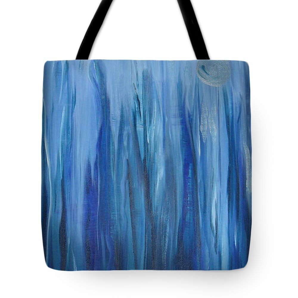 Water Tote Bag featuring the painting Murky Waters by Soraya Silvestri