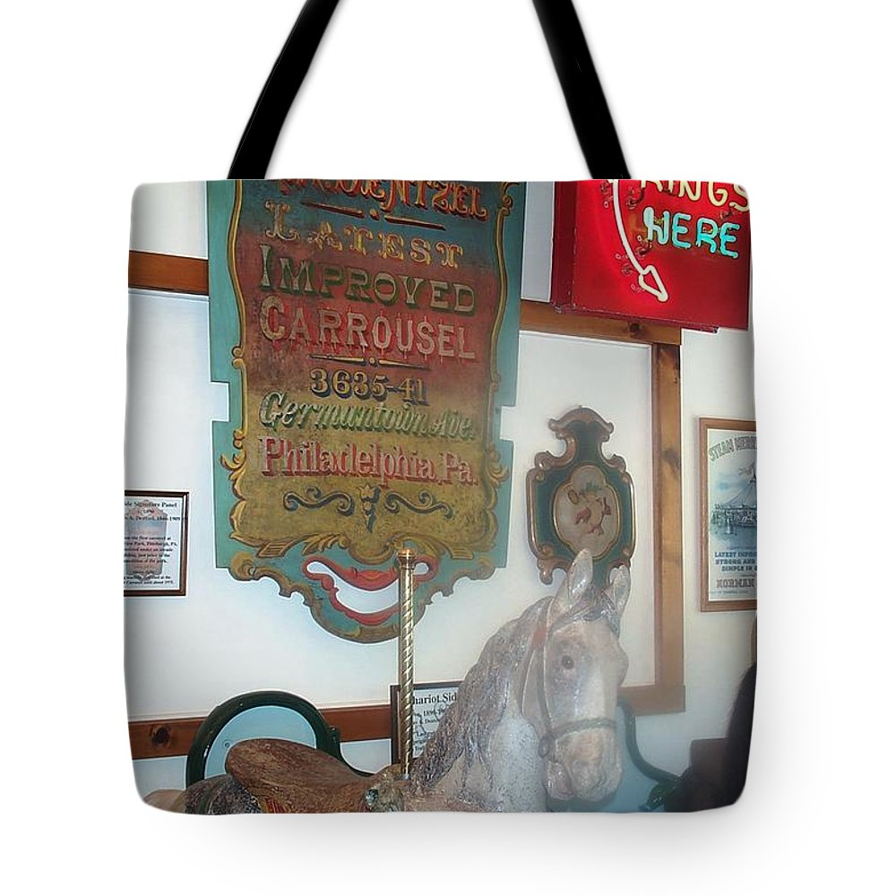 Antique Carousel Tote Bag featuring the photograph Museum Pieces by Barbara McDevitt