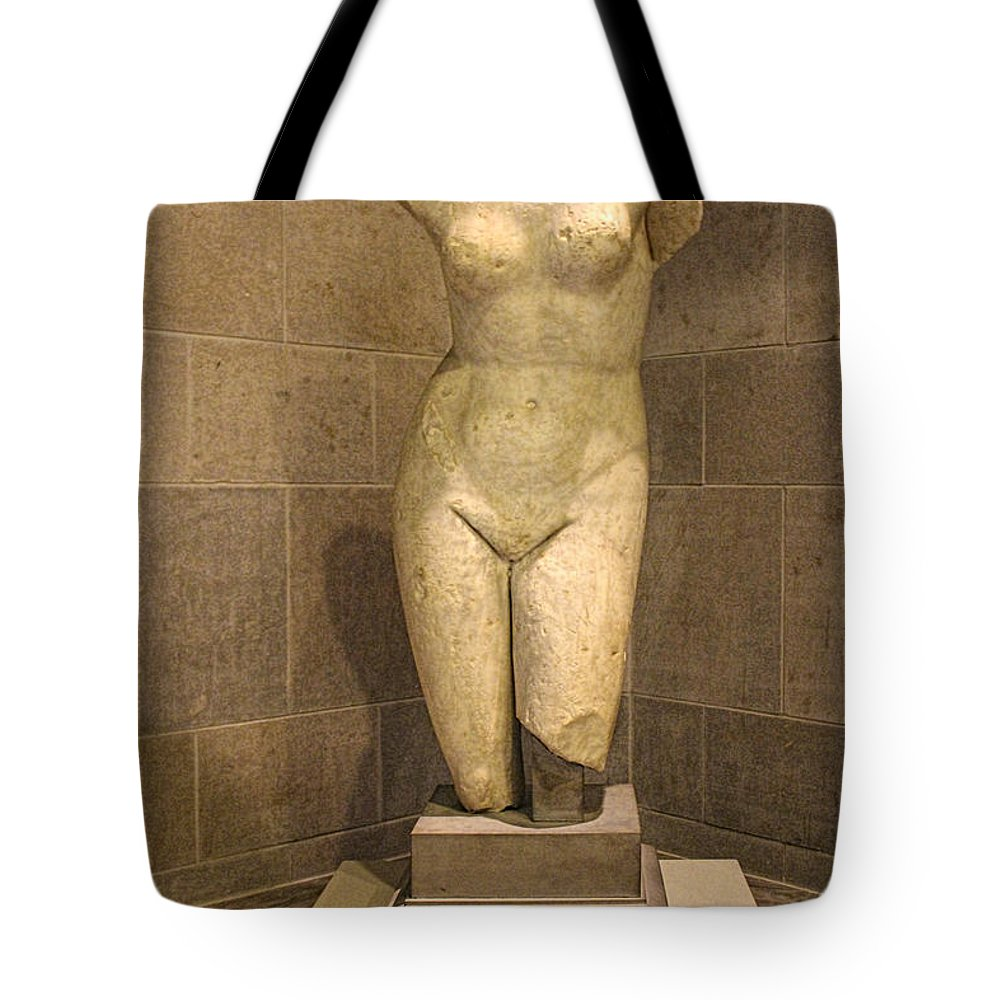 Statue Tote Bag featuring the photograph Museum Series 78 by Carlos Diaz