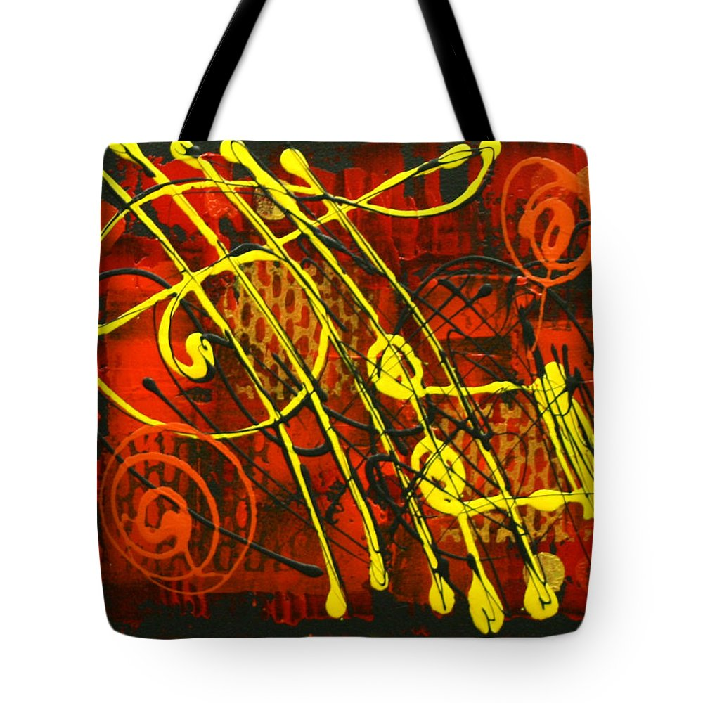 Paintings Paintings Tote Bag featuring the painting Music 3 by Leon Zernitsky
