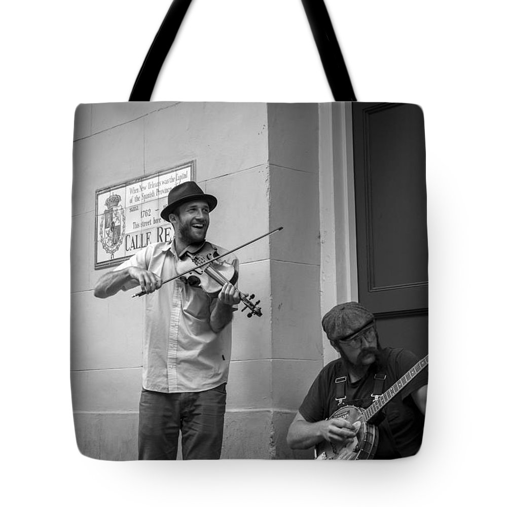 Music In The French Quarter Tote Bag featuring the photograph Music In The French Quarter by David Morefield