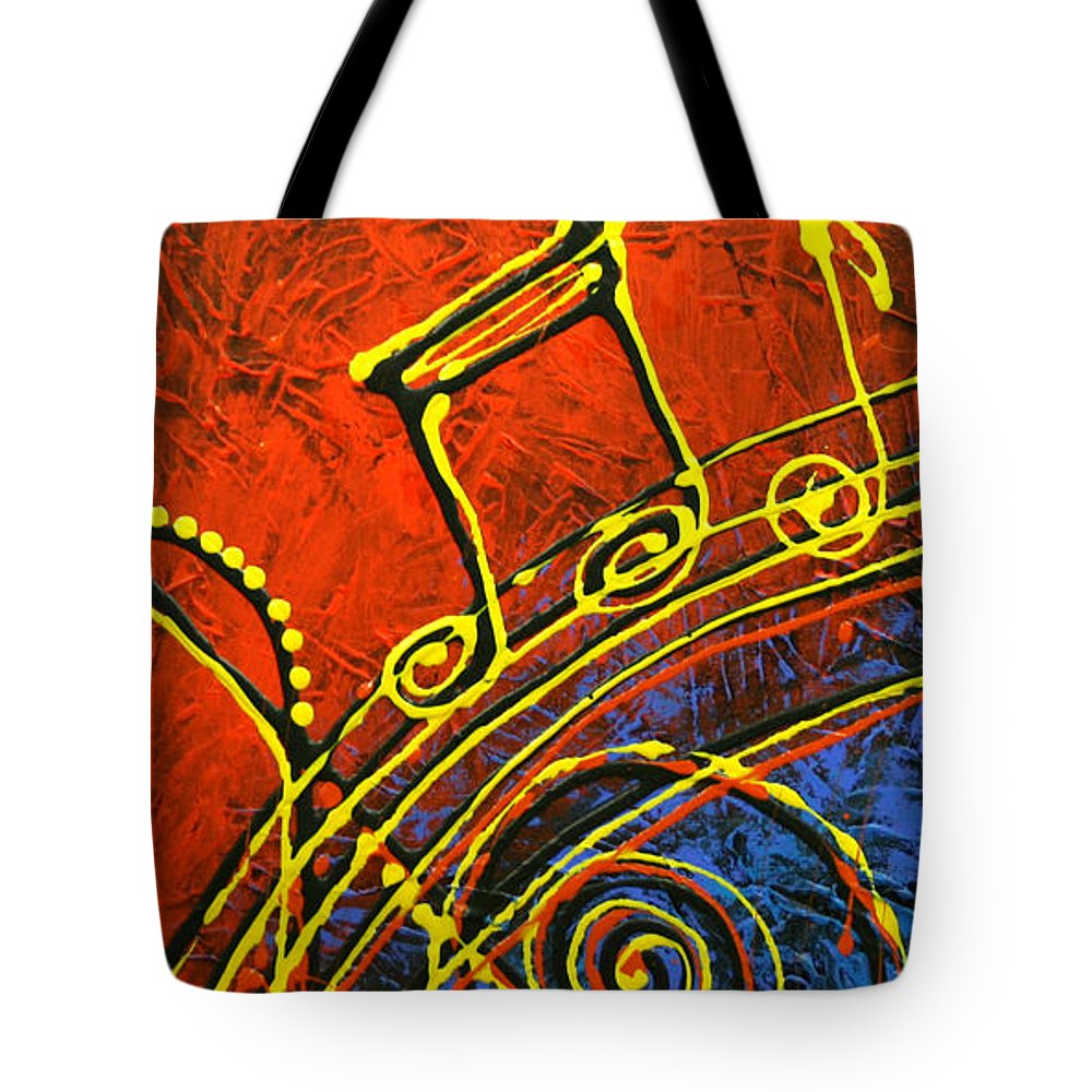 Paintings Paintings Tote Bag featuring the painting Music by Leon Zernitsky