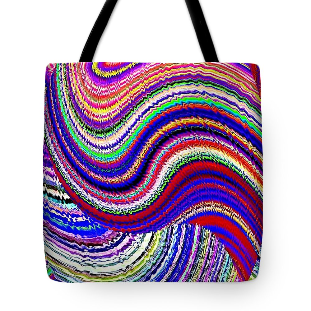 Abstract Tote Bag featuring the digital art Music To The Eyes by Will Borden