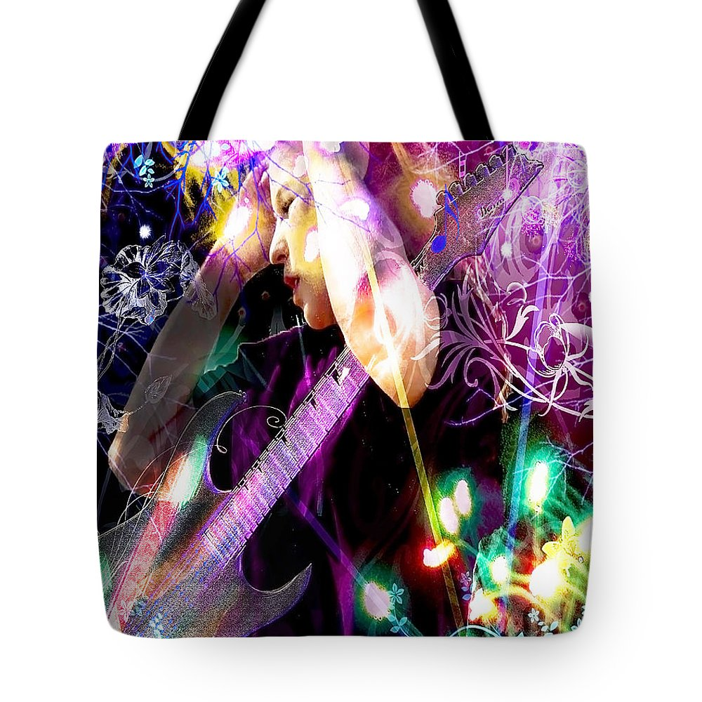 Musical Lights Tote Bag featuring the photograph Musical Lights by Mechala Matthews