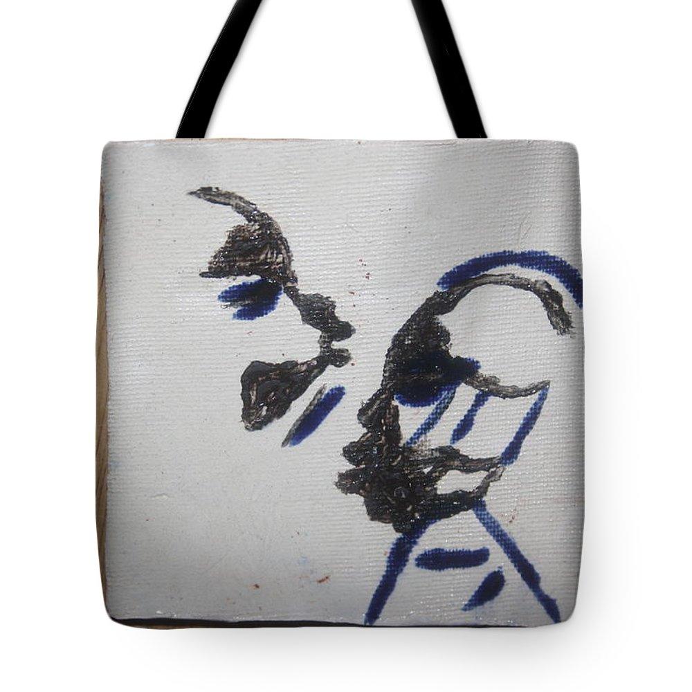 Jesus Tote Bag featuring the ceramic art Musicman - Tile by Gloria Ssali