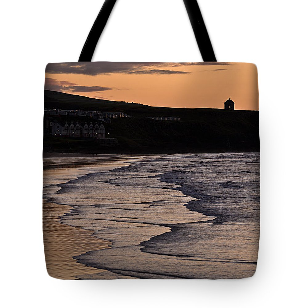 Ireland Tote Bag featuring the photograph Mussenden Sunset by Nigel R Bell