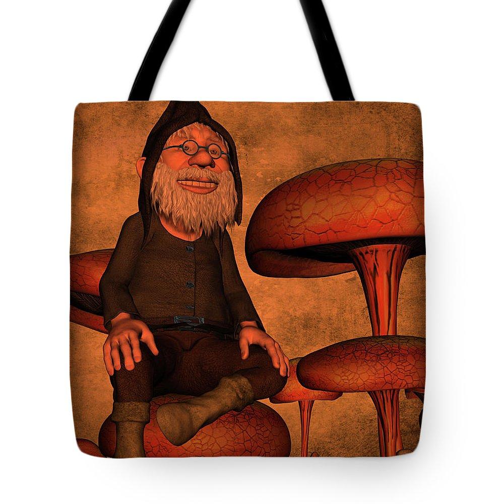 Brown Tote Bag featuring the digital art My Beautiful World by Gabiw Art